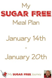 My Sugar Free Meal Plan for Jan 14th – Jan 20th!