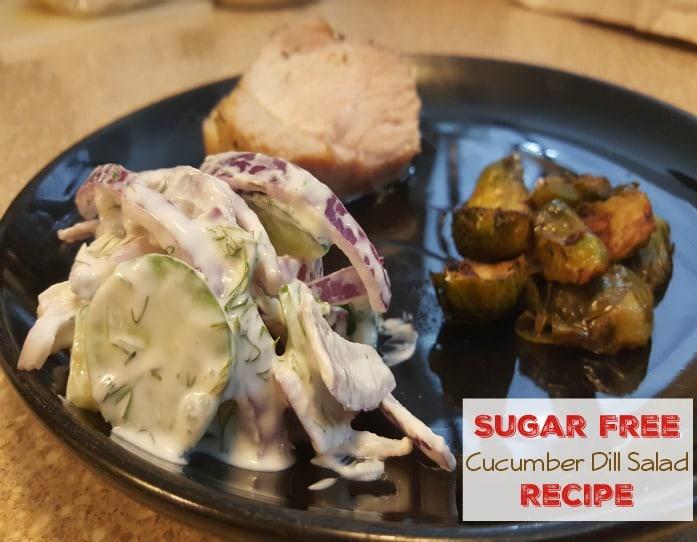 Sugar Free Cucumber Dill Salad Recipe