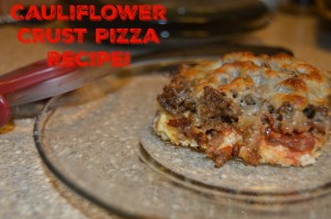 Sugar Free Cauliflower Pizza Crust Recipe!