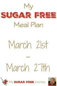 Sugar Free Meal Plan for March 21st-March 27th, 2016