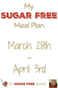 Sugar Free Meal Plan for March 28th-April 3rd, 2016!
