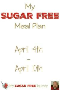 Sugar Free Meal Plan for April 4th-April 10th, 2016