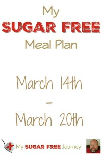 Sugar Free Meal Plan for March 14th-March 20th 2016