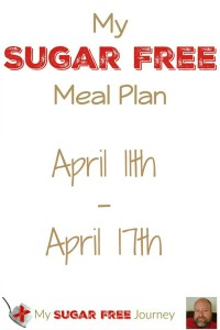 Sugar Free Meal Plan for April 11th-April 17th, 2016