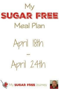 Sugar Free Meal Plan for April 18th-April 24th, 2016