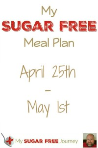 Sugar Free Meal Plan for April 25th-May 1st, 2016