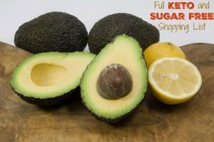 Full Keto and Sugar Free Shopping List!