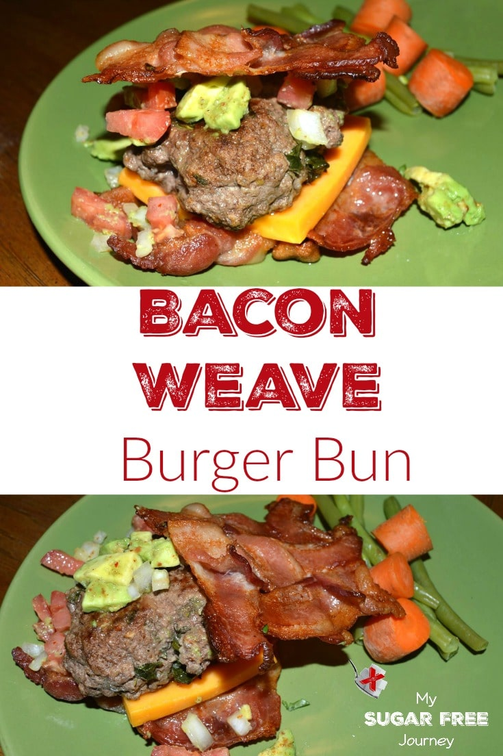 Want a hamburger that you don['t have to eat with a fork? Try this awesome Bacon weave Hamburger Bun Recipe!