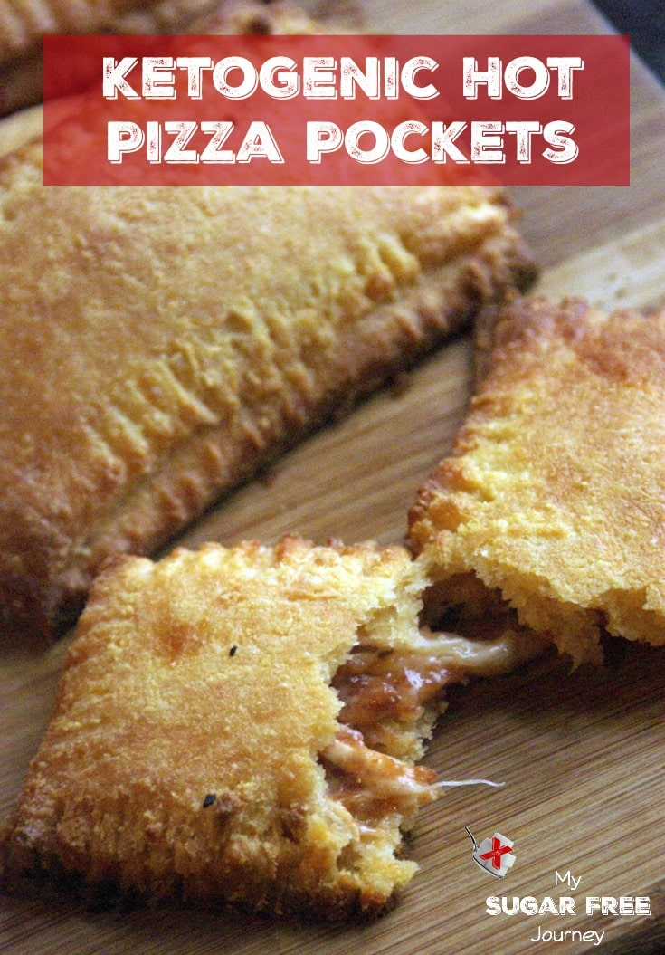 """Have you been looking for a way to get that """"Hot Pockets"""" tasty goodness into your Ketogenic diet world? I think we've conquered it with this new recipe for Ketogenic Pizza Hot Pockets!"""