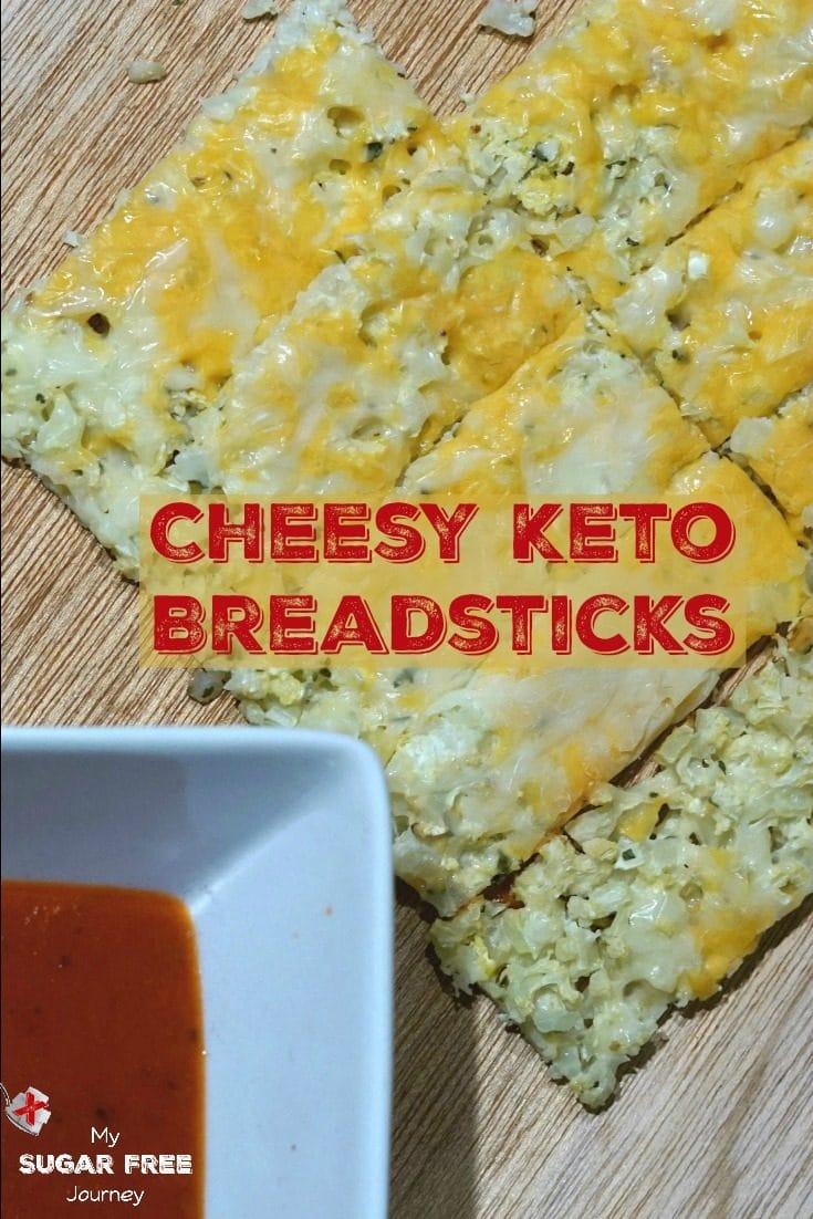 Keto Cheesy Breadsticks