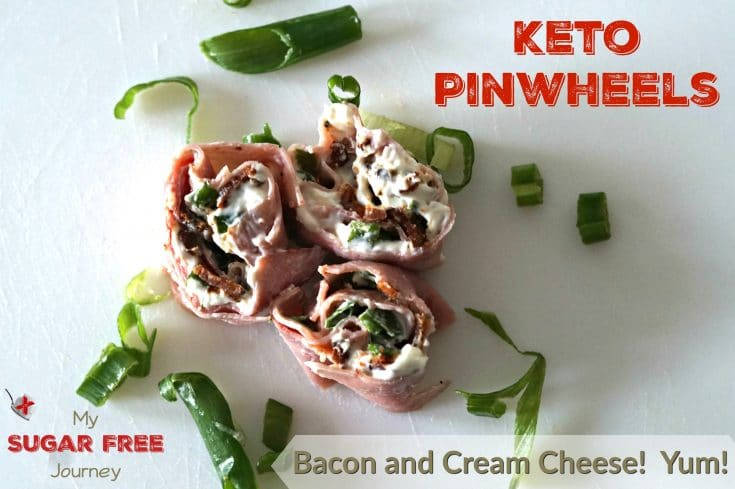 Low Carb Bacon and Cream Cheese Pinwheels