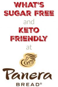What is Sugar Free and Keto Friendly at Panera Bread?